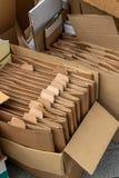Cajas de cartón para la colección de papel usado Fotografía de archivo