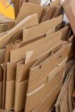 Cajas de cartón para la colección de papel usado Imagen de archivo libre de regalías