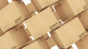 Cajas de cartón representación 3d ilustración del vector