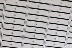 Cajas de depósito seguro en una cámara acorazada de banco Imagen de archivo libre de regalías