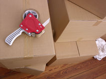 Cajas de embalaje Fotos de archivo libres de regalías