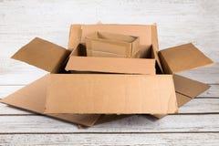 Cajas de envío Fotografía de archivo