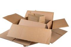 Cajas de envío Fotos de archivo