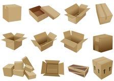 Cajas de envío de la historieta Fotos de archivo libres de regalías
