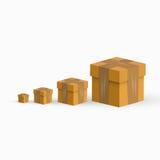 Cajas de envío del vector Foto de archivo