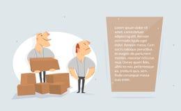 Cajas de la carga de los motores Servicio de salida stock de ilustración