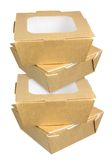 Cajas de la comida imagen de archivo libre de regalías