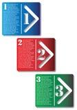 Cajas de la flecha del paso siguiente Imagen de archivo