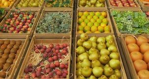 Cajas de la fruta almacen de metraje de vídeo