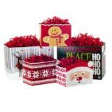 Cajas de la Navidad fotos de archivo