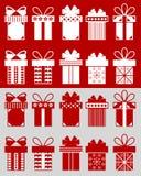 Cajas de la Navidad con los modelos Fotos de archivo