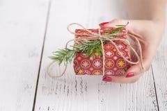 Cajas de la Navidad y de regalo del fondo del Año Nuevo Fotografía de archivo