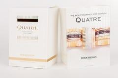 Cajas de la nueva fragancia para las mujeres Quatre Boucheron imágenes de archivo libres de regalías