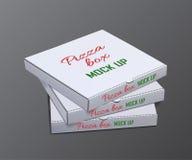 Cajas de la pizza del vector para la mofa encima de la plantilla libre illustration
