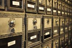 Cajas de los posts del vintage Fotografía de archivo libre de regalías