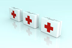 Cajas de los primeros auxilios Fotografía de archivo