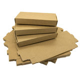 Cajas de papel de Brown Imagen de archivo