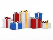 Cajas de regalo coloridas Fotos de archivo