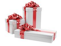 Cajas de regalo con la etiqueta en blanco del regalo Foto de archivo