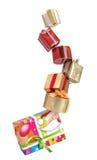 Cajas de regalo de la Navidad Fotografía de archivo libre de regalías