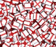Cajas de regalo de la Navidad Foto de archivo libre de regalías
