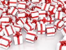 Cajas de regalo de la Navidad que caen Foto de archivo libre de regalías