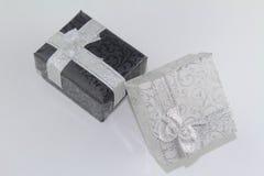 Cajas de regalo del Año Nuevo Foto de archivo libre de regalías