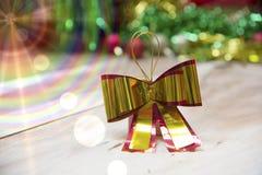 Cajas de regalo del Año Nuevo, fondo de la pendiente Fotografía de archivo