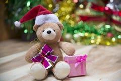 Cajas de regalo del Año Nuevo, fondo de la pendiente Imagen de archivo libre de regalías