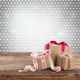 Cajas de regalo hechas a mano Fotografía de archivo