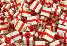 Cajas de regalo de la Navidad Fotografía de archivo