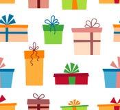 Cajas de regalo olorful del ¡de Ð con las cintas y los arcos Actual rectángulo Modelo inconsútil Vector libre illustration