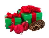 Cajas de regalo verdes Foto de archivo