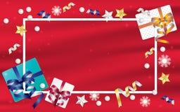 Cajas de regalo y fondo del marco libre illustration