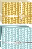 Cajas de regalos simples y elegantes de la Navidad, adornadas con la cinta de oro alrededor libre illustration