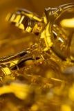 Cajas de reloj de oro Imagen de archivo