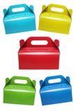Cajas de torta coloridas Imagen de archivo libre de regalías