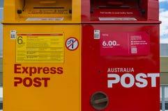 Cajas del correo del correo de Australia Foto de archivo libre de regalías