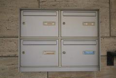 Cajas del correo del metal fotos de archivo libres de regalías