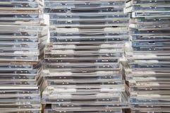 Cajas del disco compacto Imagen de archivo libre de regalías