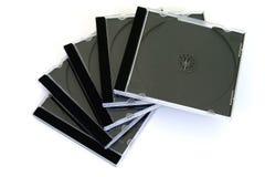 Cajas del disco compacto Fotos de archivo libres de regalías
