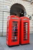 Cajas del teléfono de Londres Imagen de archivo
