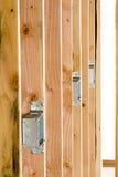 Cajas eléctricas de la nueva construcción Imagen de archivo