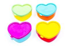 Cajas en forma de corazón Imágenes de archivo libres de regalías