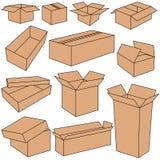 Cajas en vector Foto de archivo