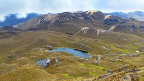 Cajas National Park, Mirador Tres Cruces, Ecuador royalty free stock image