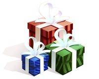 Cajas para los regalos Fotografía de archivo