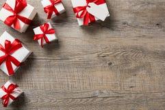 Cajas rojas del git fotografía de archivo libre de regalías