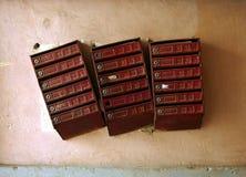 Cajas viejas Imagenes de archivo