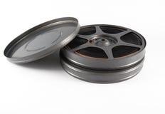 cajas y carrete de la película de 16 milímetros Fotografía de archivo
